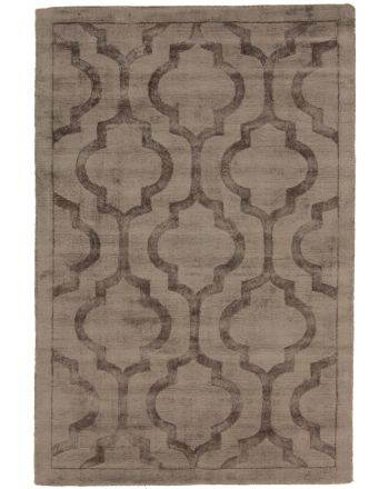 Viscose Rug Visconti Trellis Grey