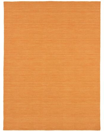 Flat Weave Rug Kilim Loom Orange