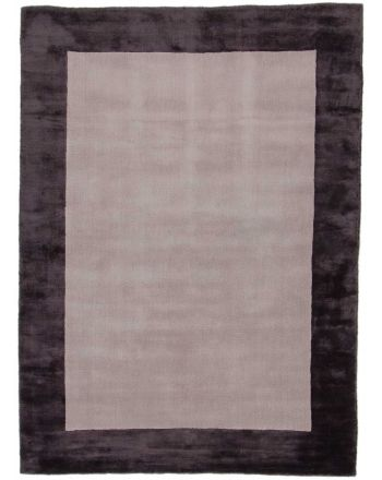 Viscose Rug Visconti Border Grey