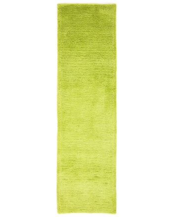 Shaggy Rug Softly Runner Green