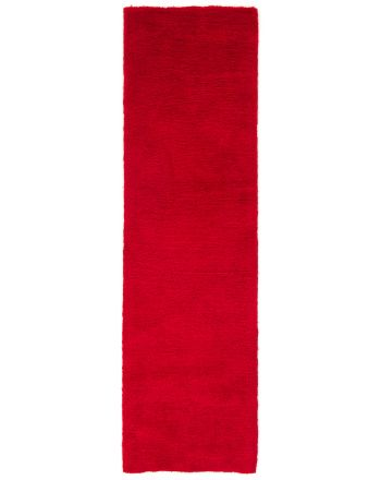 Shaggy Rug Softly Runner Red