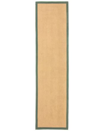 Sisal Rug Runner Green