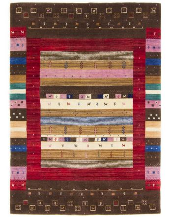 Wool Rug Gabbeh Raj Brown