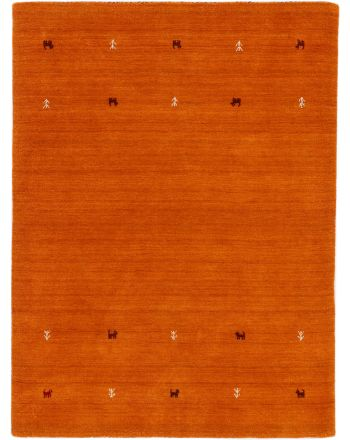 Wool Rug Gabbeh Uni Orange