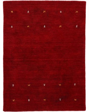 Wool Rug Gabbeh Uni Red