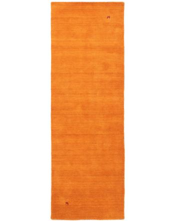 Wool Rug Gabbeh Uni Runner Orange