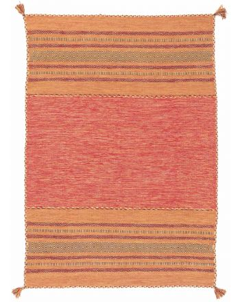 Flat Weave Rug Kilim Azizi Orange