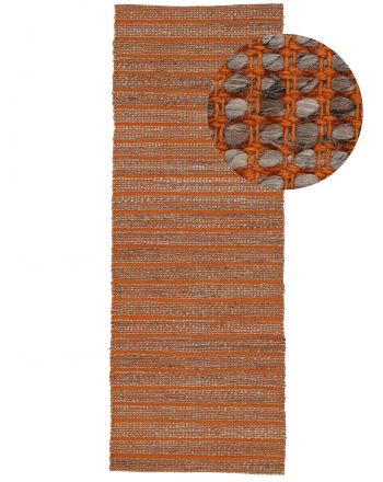 Jute Rug Lara Runner Orange
