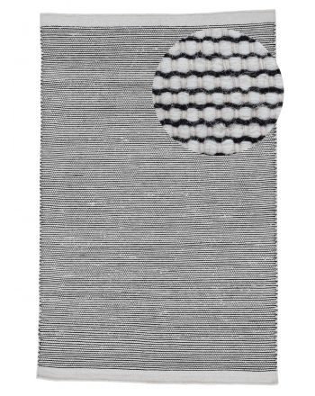 Wool Rug Mona Black/White