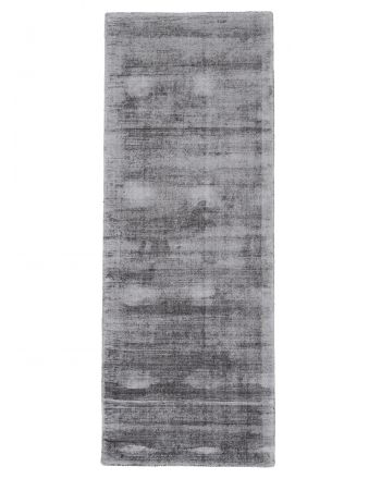 Viscose Rug Ava Runner Light Grey