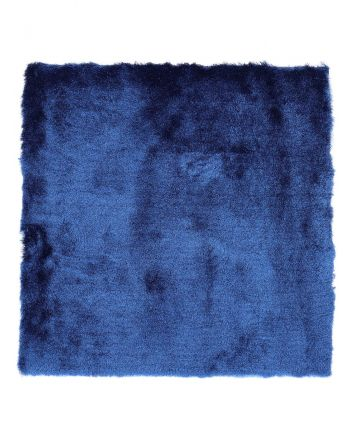 Shaggy Rug Luna Square Blue