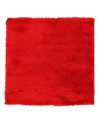 Shaggy Rug Luna Square Red