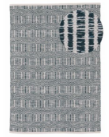 Flat Weave Rug Kilim Oregan Dark Green