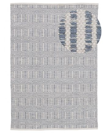 Flat Weave Rug Kilim Oregan Grey
