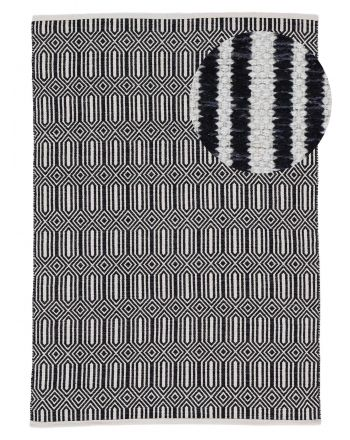 Flat Weave Rug Kilim Oregan Black