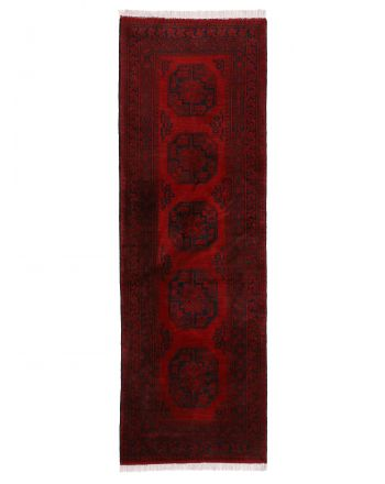 Afghan Akhche Rug Runner Red