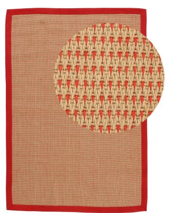 Sisal Rug Sofia Red