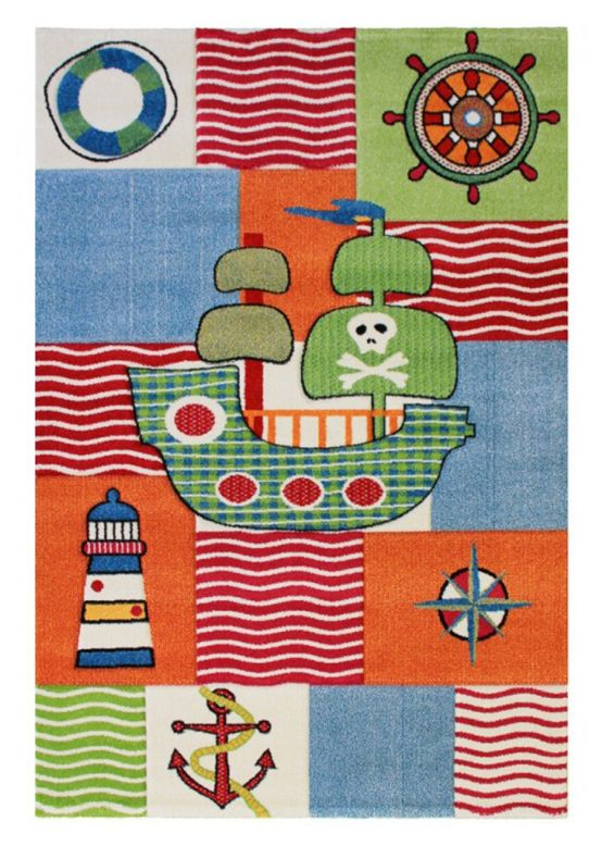 Kids Rug Pirat Multicolored