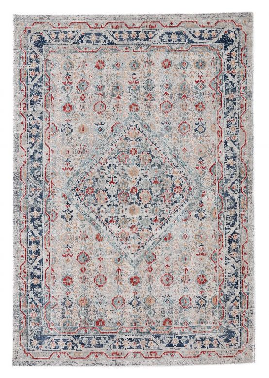 Flat Weave Rug Noah Light Grey
